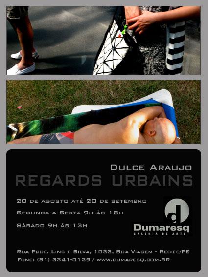 Cliente: Dulce Araújo. Design do convite: Feed Comunicação. Produto: convite de exposição
